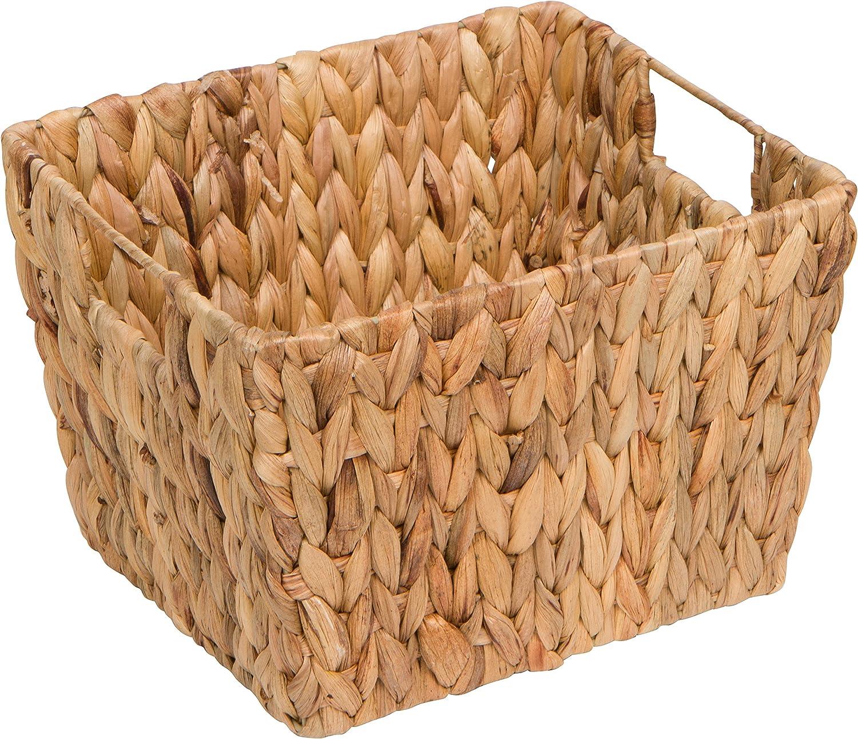Rectangular Trademark Innovations Hyacinth Storage Basket with Handles Set of 4, 11.5