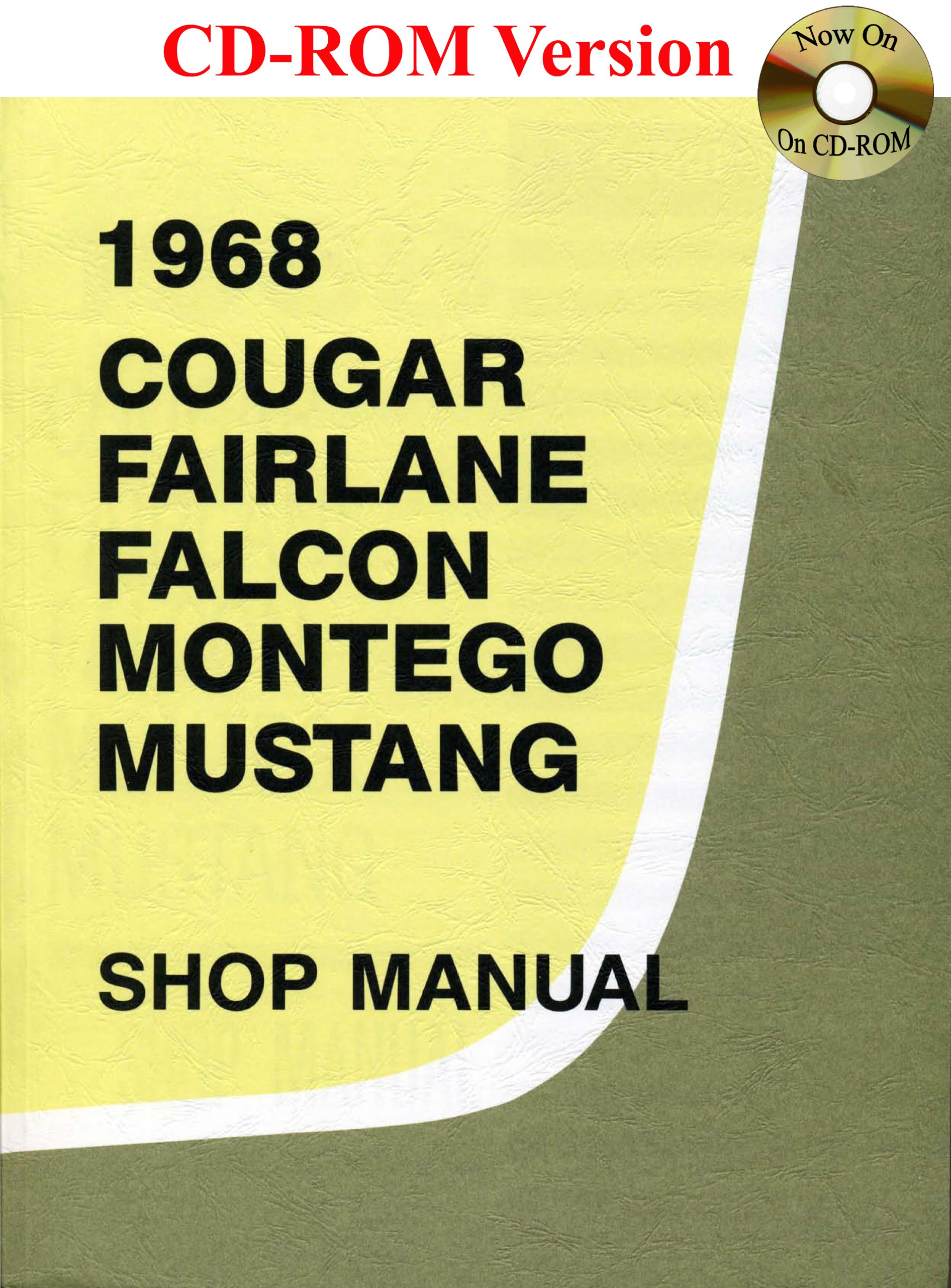 1968 Ford Cougar Fairlane Falcon Montego Mustang Shop Manual Wiring Diagram Motor Company David E Leblanc 9780967321158 Books