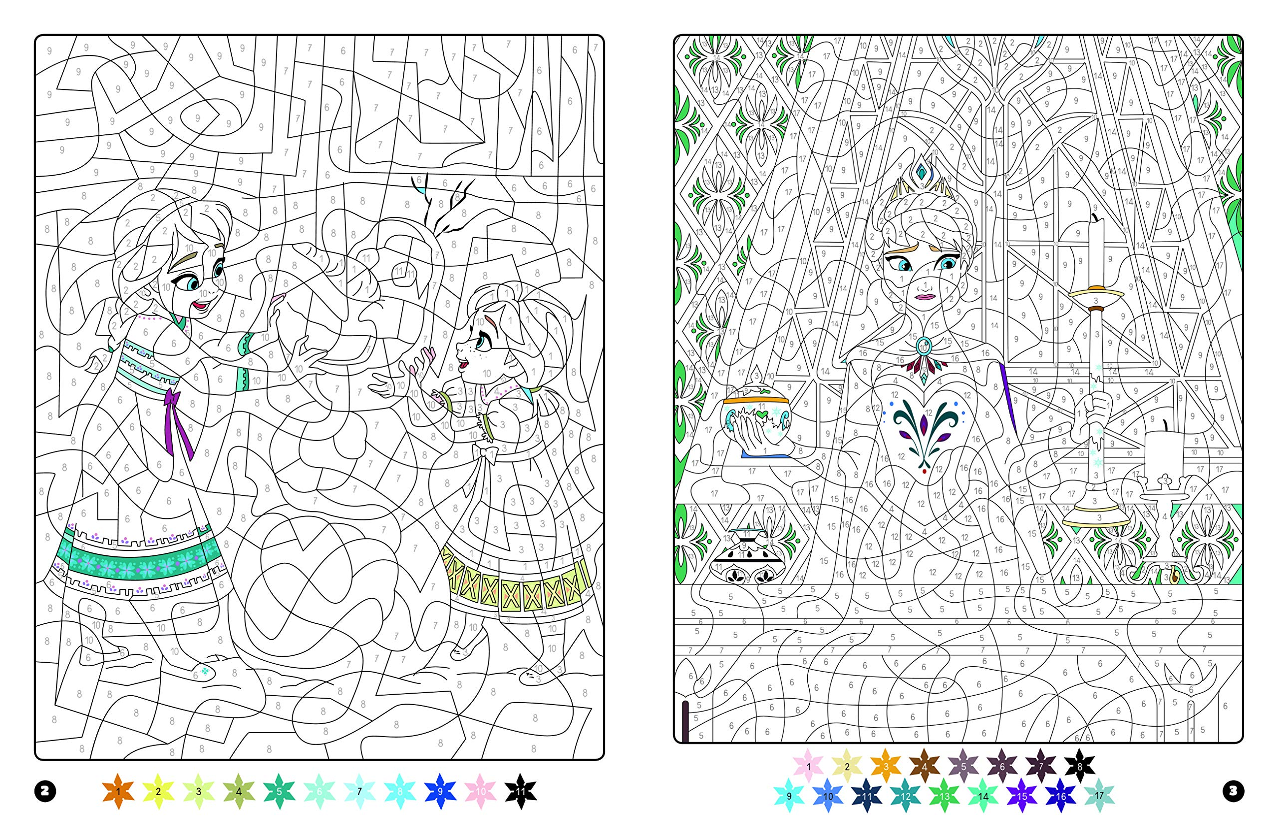 LA REINE DES NEIGES   Coloriages Magiques   Mystères   Disney ...