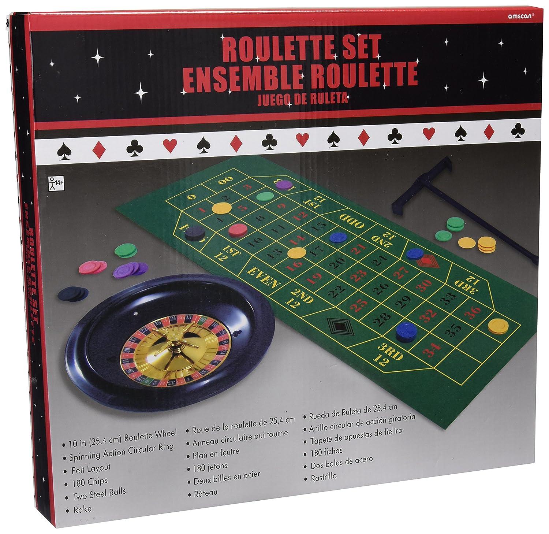 Roulette Set 25 cm Kunststoffteller