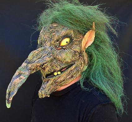 Amazon Com Xml Acid Tactical Creepy Scary Halloween Witch Mask Latex Costume Mask Evil Warlock Toys Games