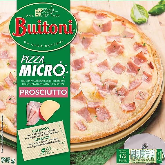 Buitoni Pizza MICRO Proscuitto - Pizza Congelada de jamón y queso - 315 g