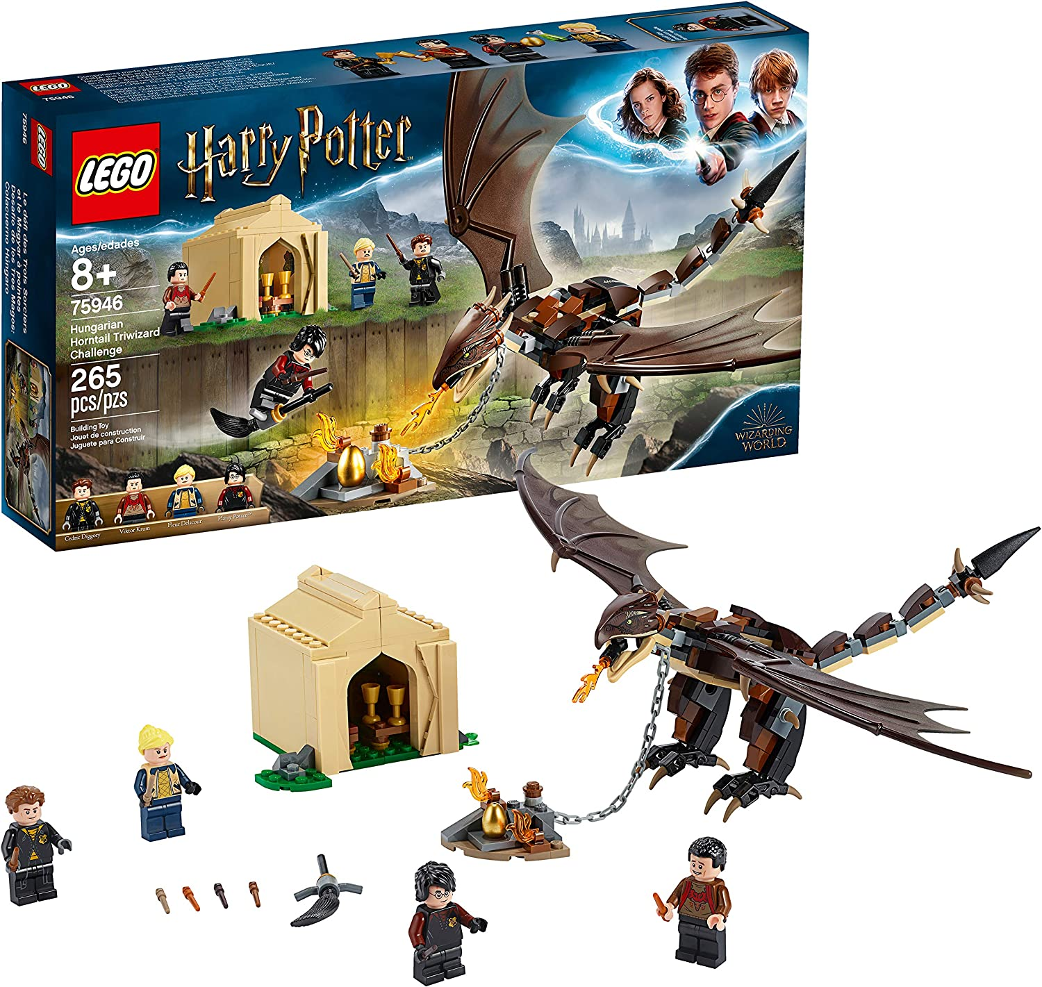 Lego Harry Potter And The Goblet Of Fire Hungarian Horntail Triwizard Challenge 75946 Building Kit 265 Pieces Toys Games