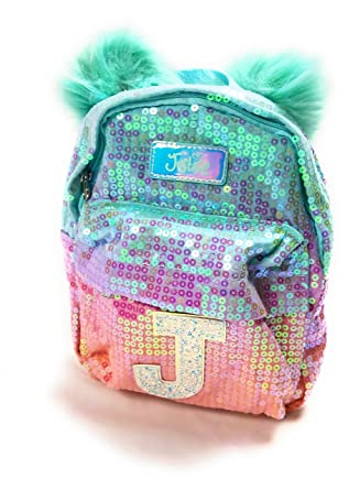 c16ac6e103c9 Justice Girls Ombre Initial Mini Pom Pom Backpack