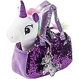 Little Jupiter Plush Pet Set with Purse - Unicorn Toys - Unicorn Stuffed Animal - Pink Elephant Stuffed Animals - Unicorn Gif