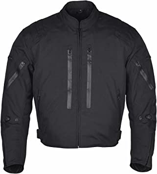 JET Textile Air Mesh Motorcycle Motorbike Summer Jacket CE Armoured 34-36 , Black XS