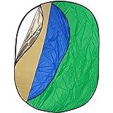 Set Pannello Riflettente DynaSun WOS2070 7in1 150x200cm XXL Bianco Argento Oro Verde Blu Diffusore