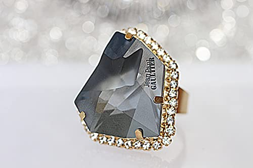 Grey Ring, Asymetric Ring, Unique Big