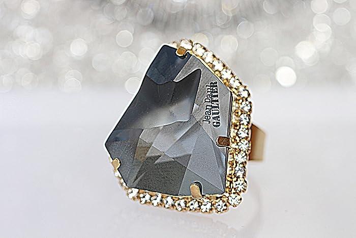 c4ba825380e94 Amazon.com: Grey Ring, Asymetric Ring, Unique Big Ring, Cocktail ...