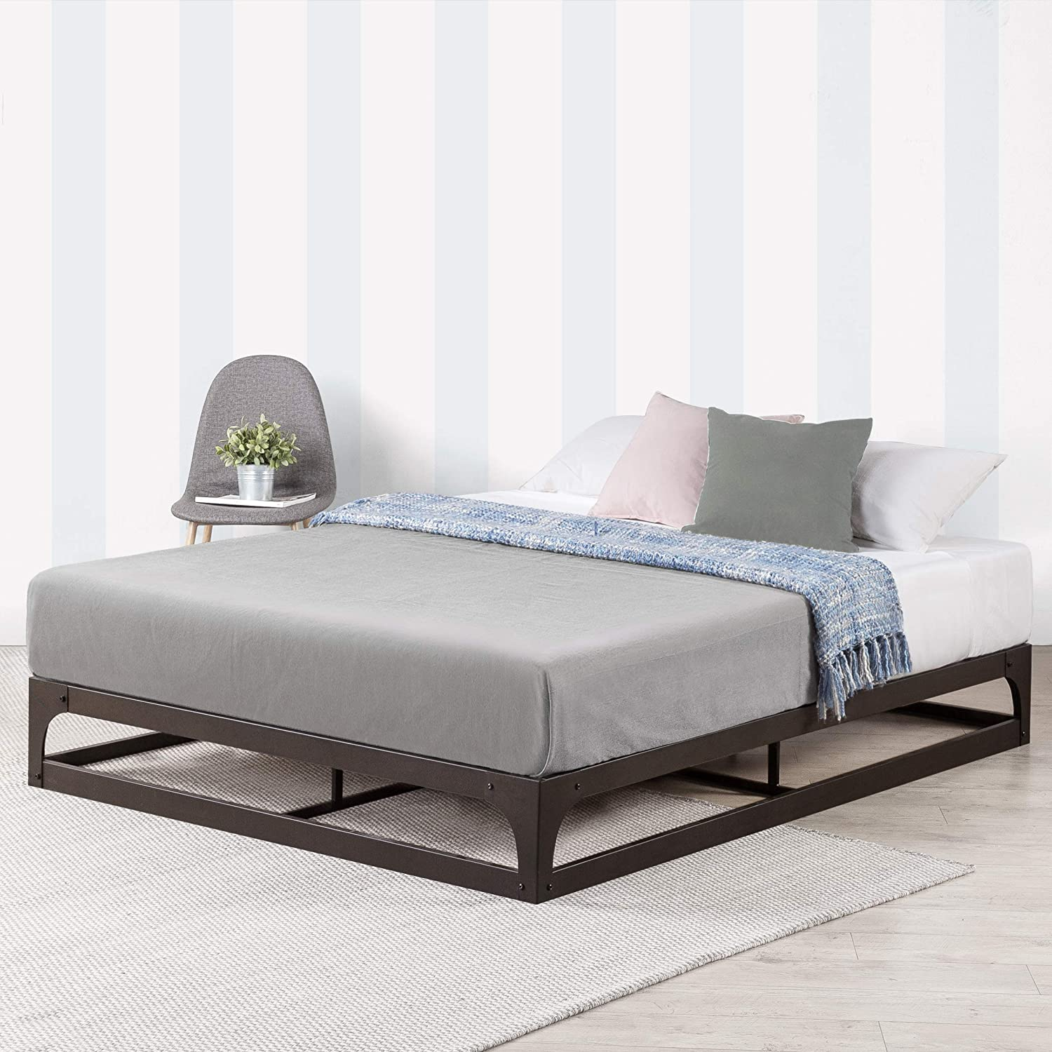 Amazon Com Mellow 9 Inch Metal Platform Bed Frame W Heavy Duty