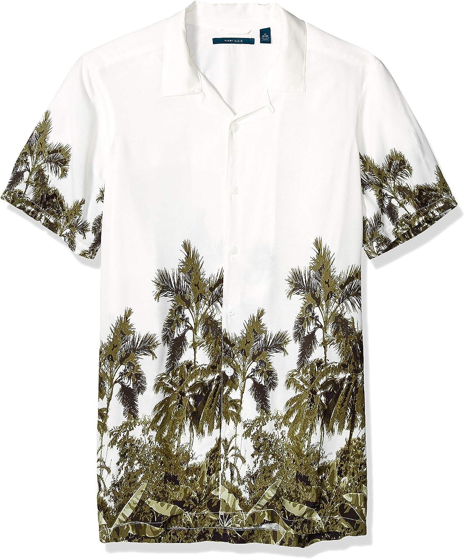 Perry Ellis Men's Big and Tall Jungle Print Shirt