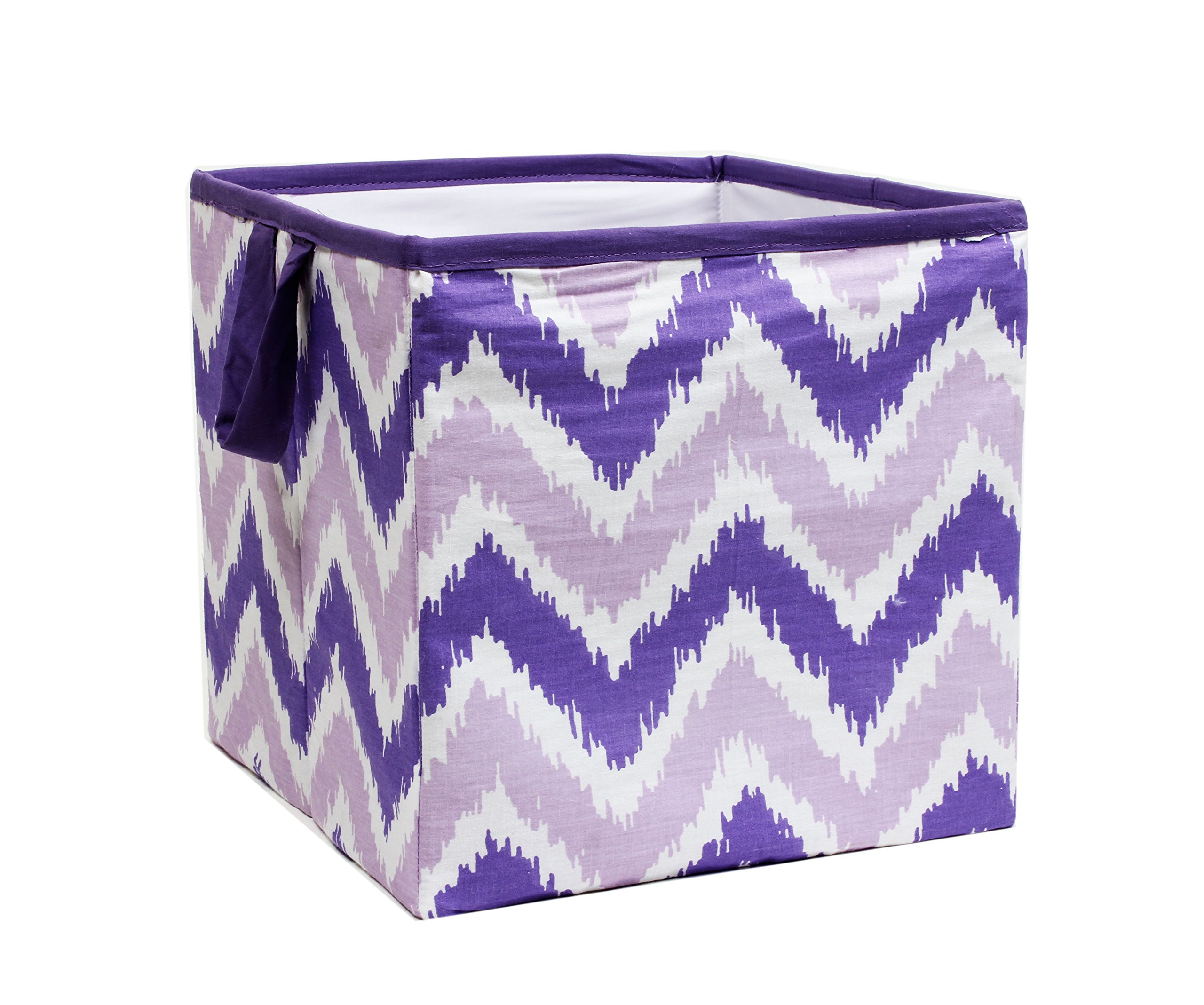Bacati MixNMatch Storage Box, Purple, Small
