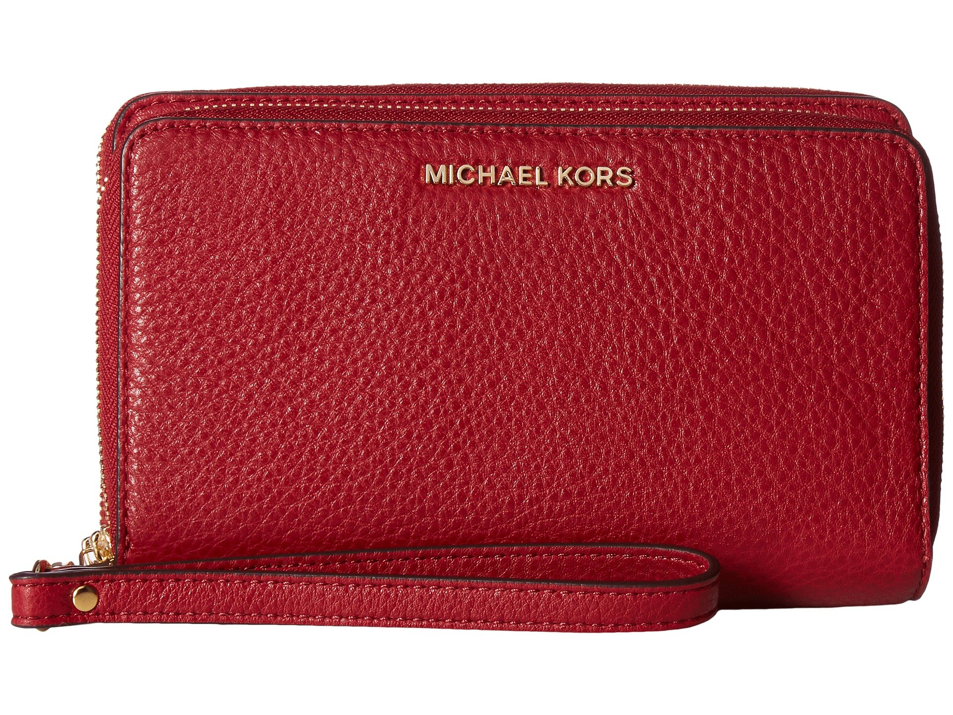 Michael Kors Adele Large Smartphone Wristlet in Cherry by MICHAEL Michael Kors