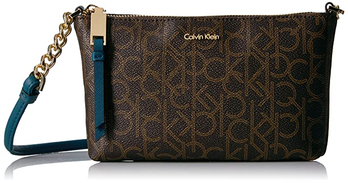 125ca0085 Calvin Klein Hayden Monogram Crossbody, Brown khk/cyp: Handbags ...