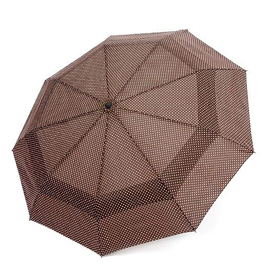 EEZ-Y Compact Travel Umbrella w/ Windproof Umbrella Double Canopy Construction