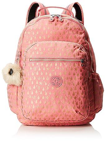 Amazon.com | kipling SEOUL GO Large Backpack Pink Gold Drop | Casual Daypacks