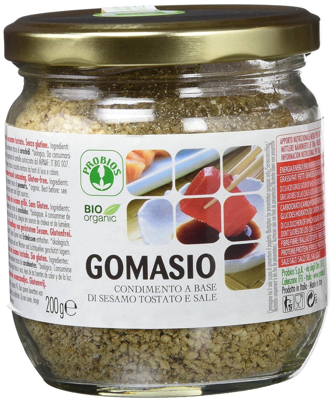 Probios Gomasio Condimento a Base de Sésamo Tostado, sin Gluten - 6 Tarros: Amazon.es: Alimentación y bebidas