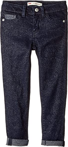 09e63ca44ab7 Image Unavailable. Image not available for. Color  Levi s Kids Girl s 710  Shine Jeans ...