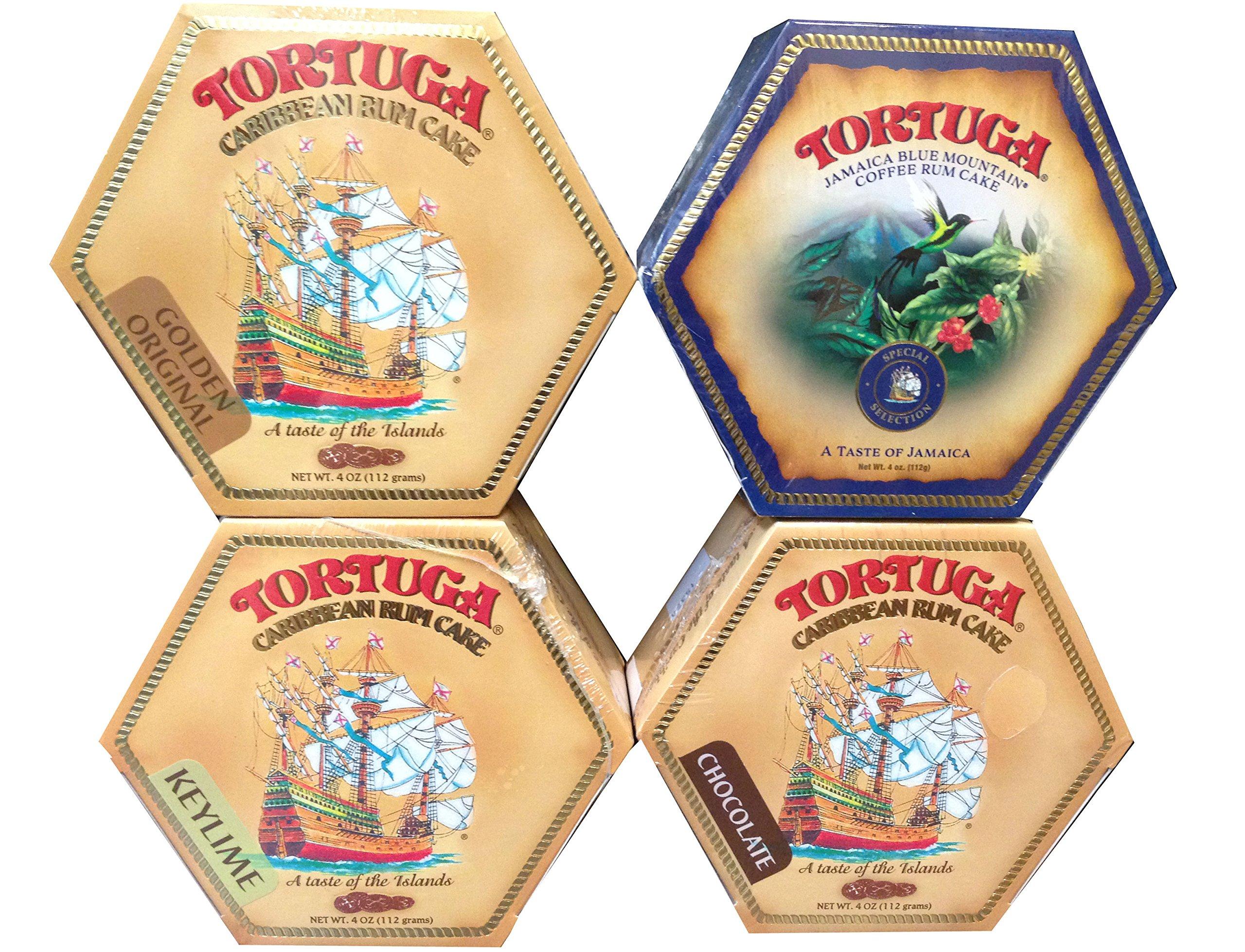 Tortuga Caribbean Rum Cake Assortment - 4 Rum Cakes of 4oz each by Tortuga (Image #1)