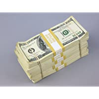 PROP MONEY Real Looking Copy $100s Pack - AGED BLANK FILLERS Total $50,000 for Movie, TV, Videos, Advertising & Novelty