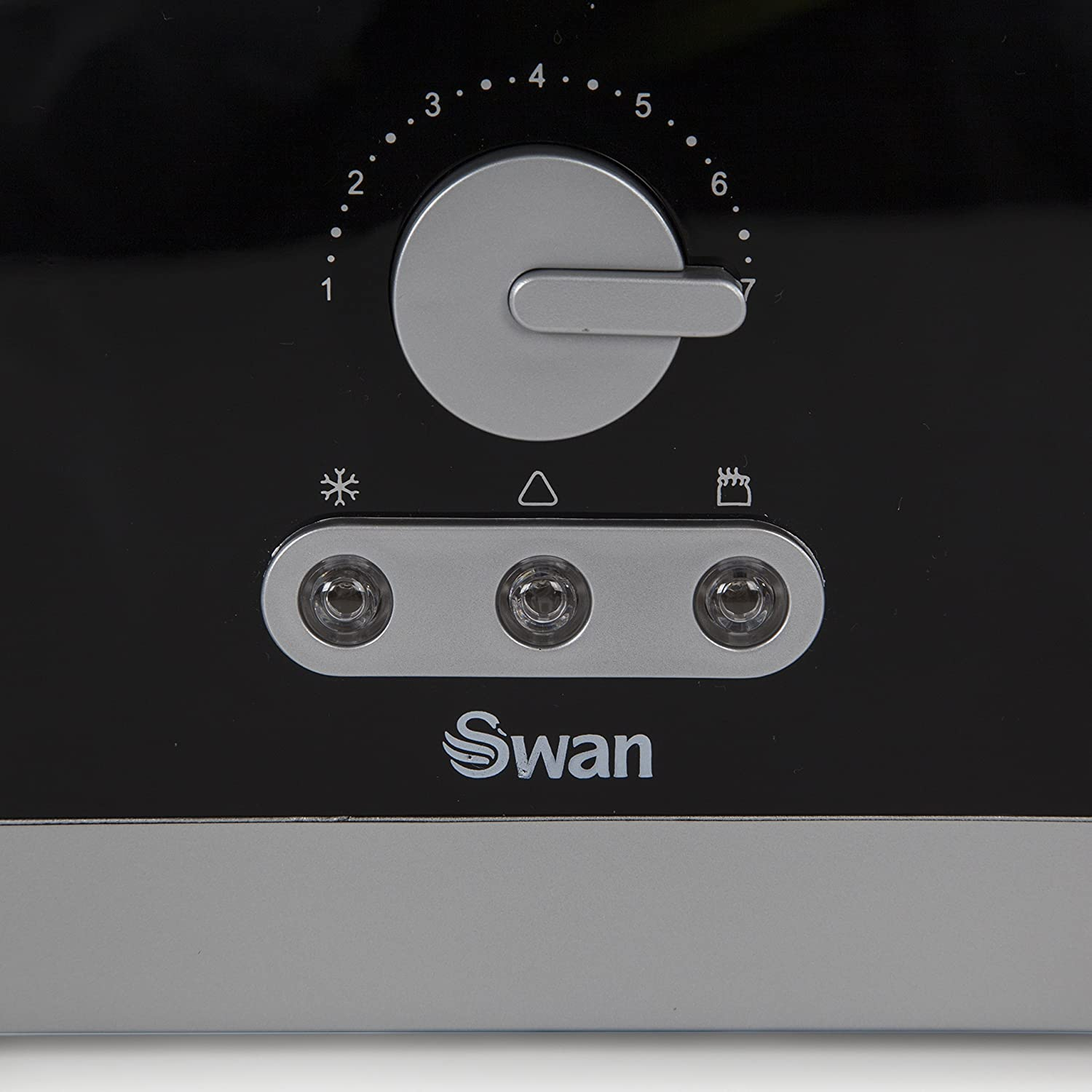 Swan 4 Slice Long Slot Black Toaster