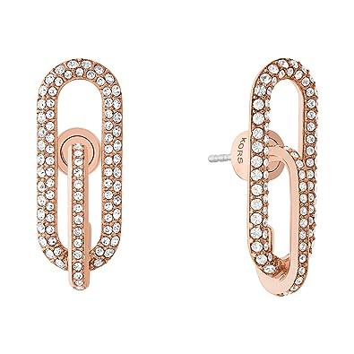 7f29601fdb68 Michael Kors Women Stainless Steel Dangle   Drop Earrings - MKJ6970791   Amazon.co.uk  Jewellery