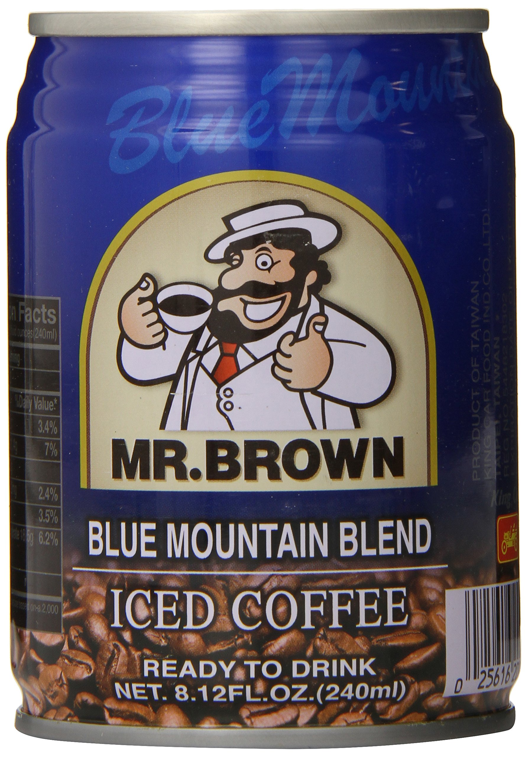 Mr. Brown Iced Coffee, Blue Mountain, 8.12 Ounce (Pack of 24) by Mr. Brown