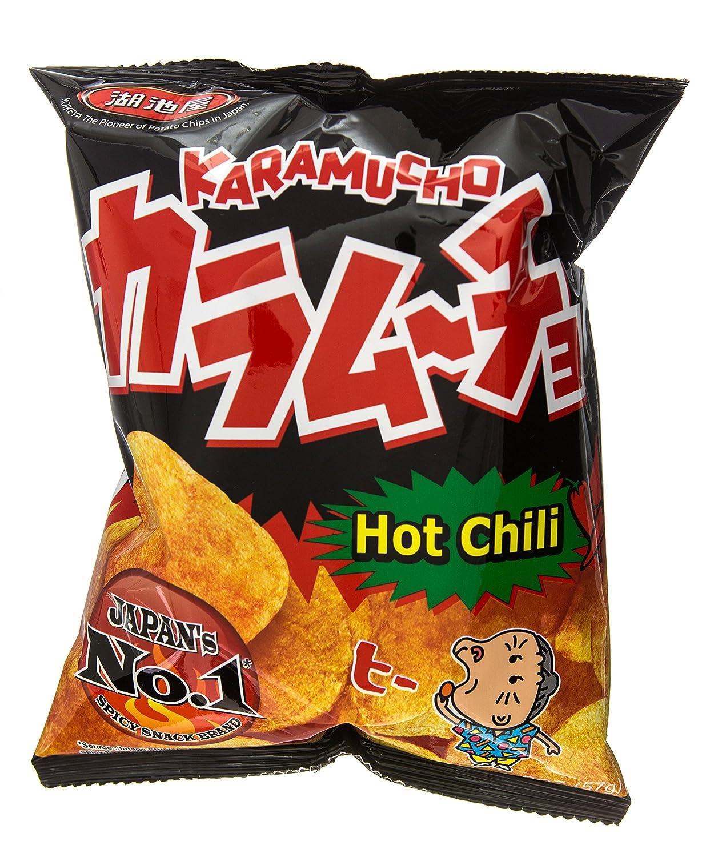 Koikeya Karamucho Potato Chips, Spicy Seaweed, 2 01 Ounce (Pack of 12)