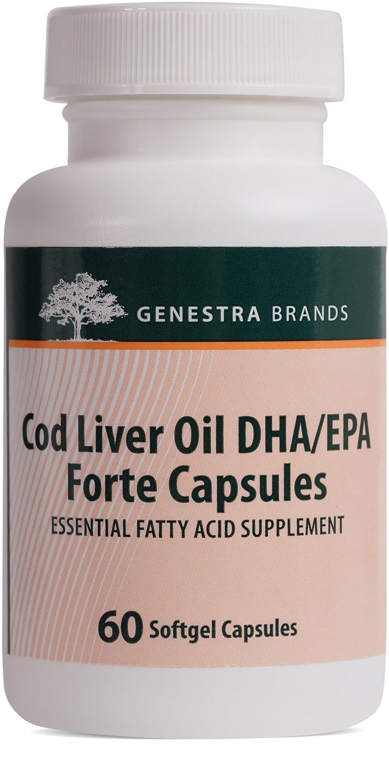Genestra Brands - Cod Liver Oil DHA/EPA Forte Capsules - Blend of DHA, EPA, and Vitamins A and D - 60 Softgel Capsules by Genestra Brands (Image #1)