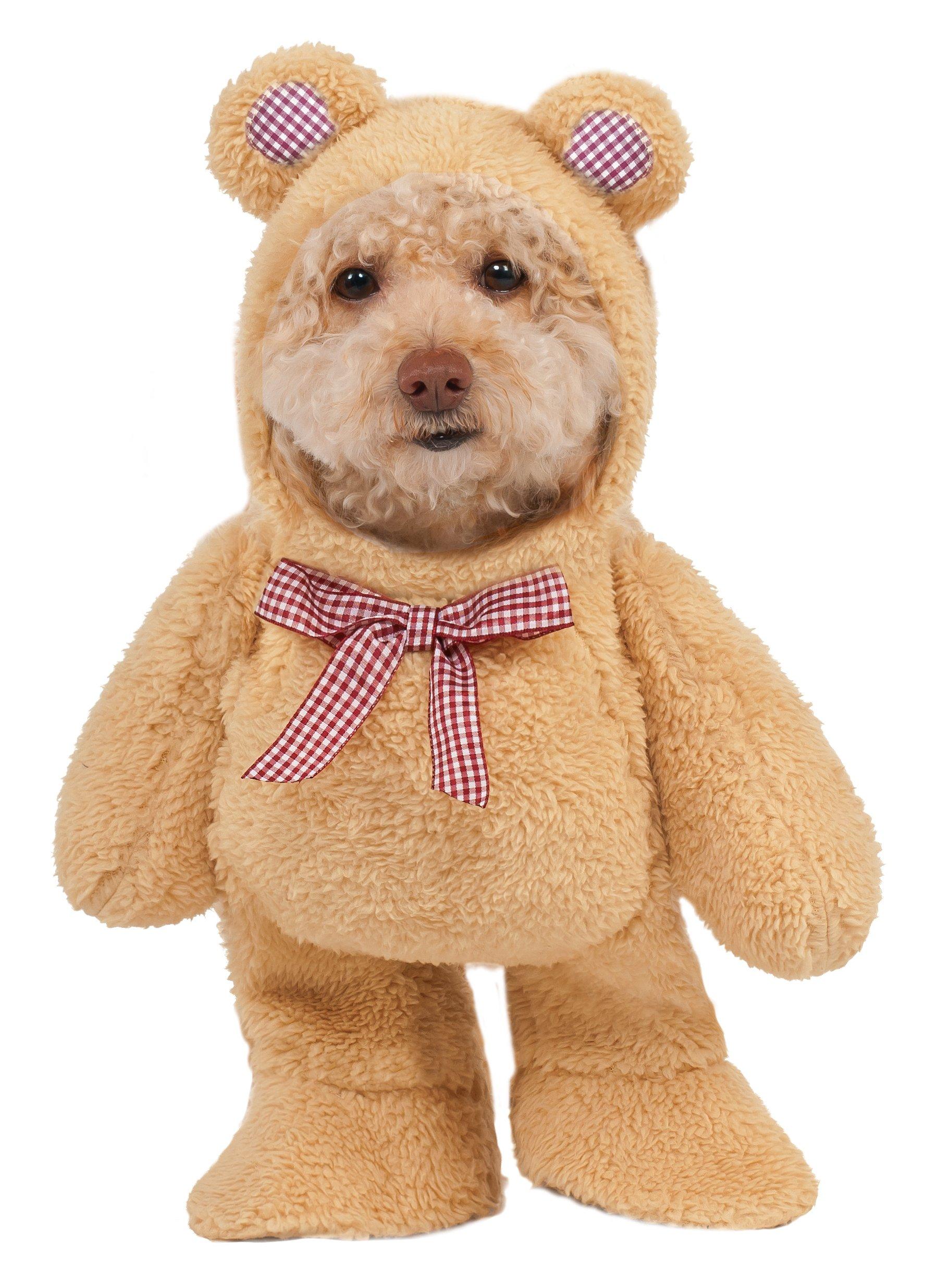 Walking Teddy Bear Pet Suit, X-Small