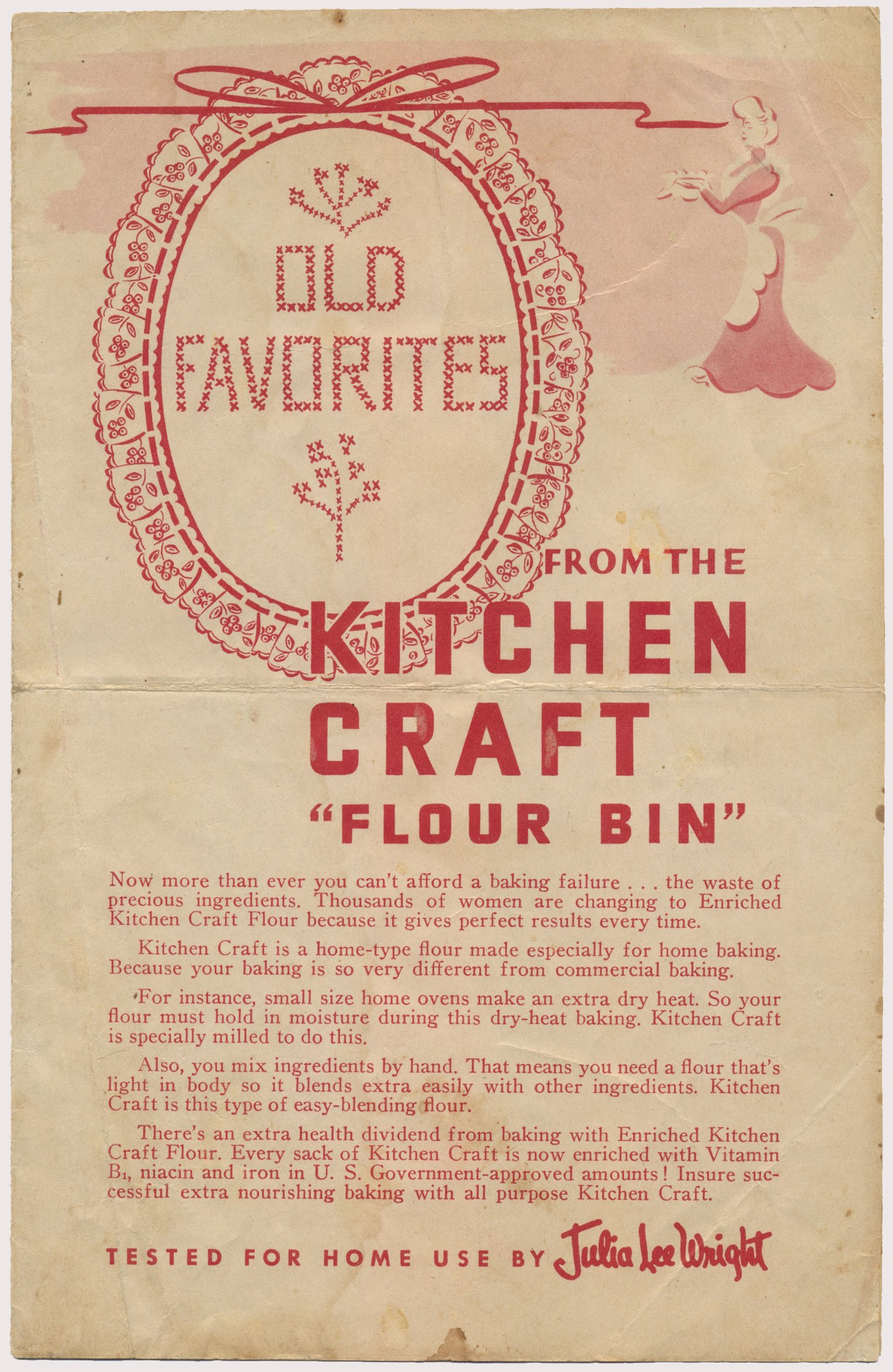 Old Favorites From Kitchen Craft Flour Bin - WWII Recipes ...