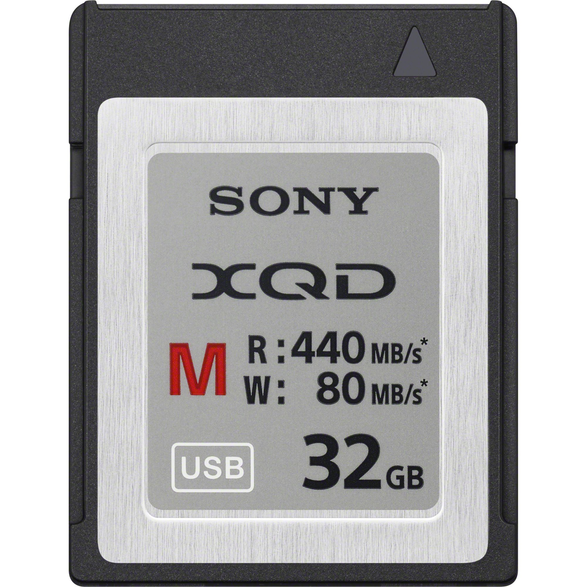 Sony 32GB XQD Memory Card M Series (up to 440MB/s Read) w/File Rescue Software