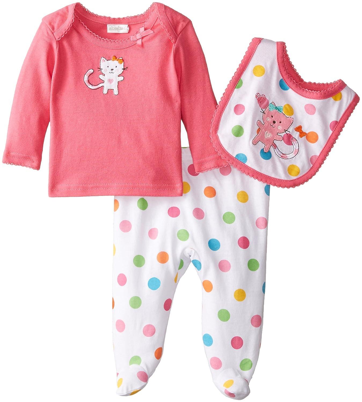 44ba3eeeee19 Amazon.com  absorba Baby Girls  Newborn Kitty 3 Piece Pant Set