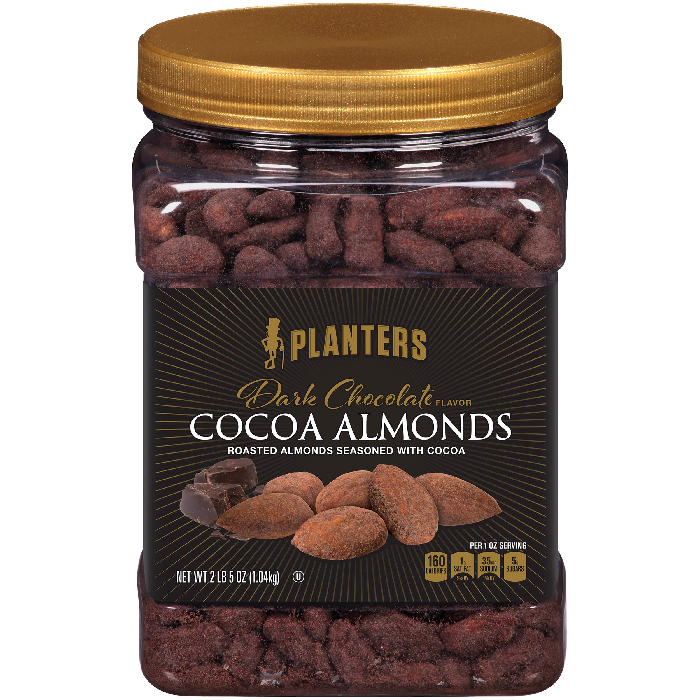 Planters Dark Chocolate Flavor Cocoa Almonds (37 oz Canister) by Planters
