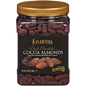 Planters Dark Chocolate Flavor Cocoa Almonds (37oz Canister)