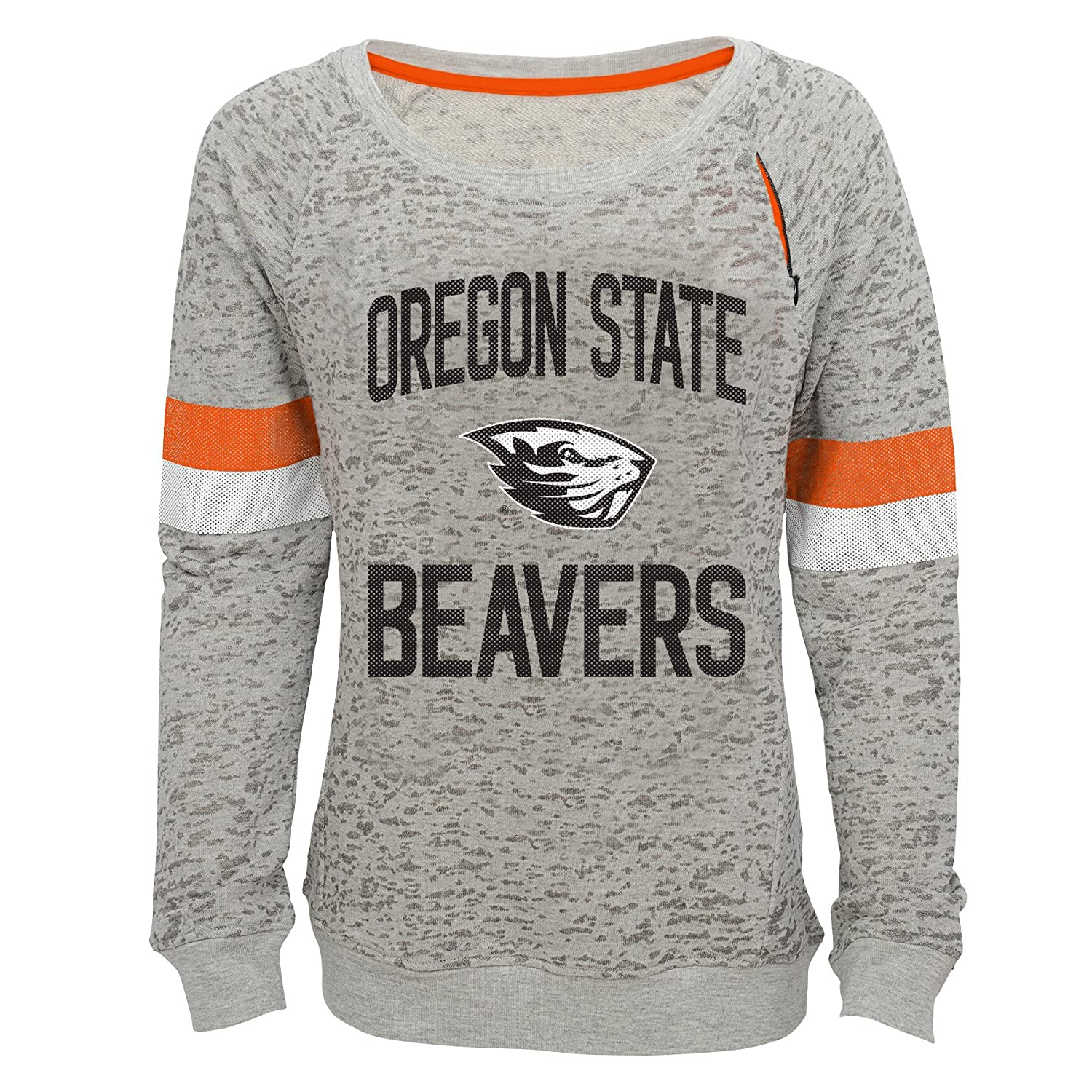 NCAA by Outerstuff NCAA Oregon State Beavers Youth Girls My City Boat Neck Pullover Heather Grey 16 Youth X-Large