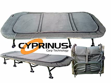 b30e7adfe04 Image Unavailable. Image not available for. Colour  Cyprinus™ Memory Foam 8  Leg Extra Wide X-Wide Bedchair bed Chair for Carp