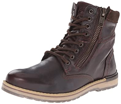 GBX Men's Dern Plain Toe Fashion Boots, Brown, Leather, ...