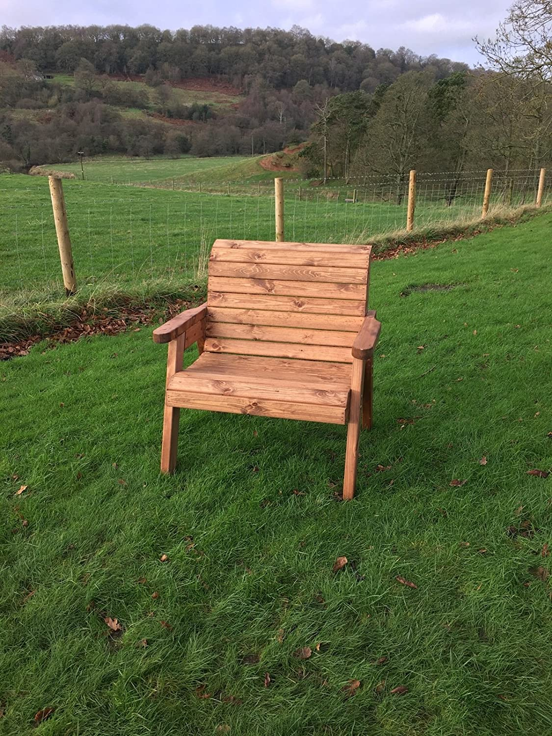 UKG Heavy Duty Large Extra Wide Wooden Garden Arm Chair With Extra  Stability   UK Handmade. UK Handmade Heavy Duty Wooden Garden Chair Connecting Tray Table