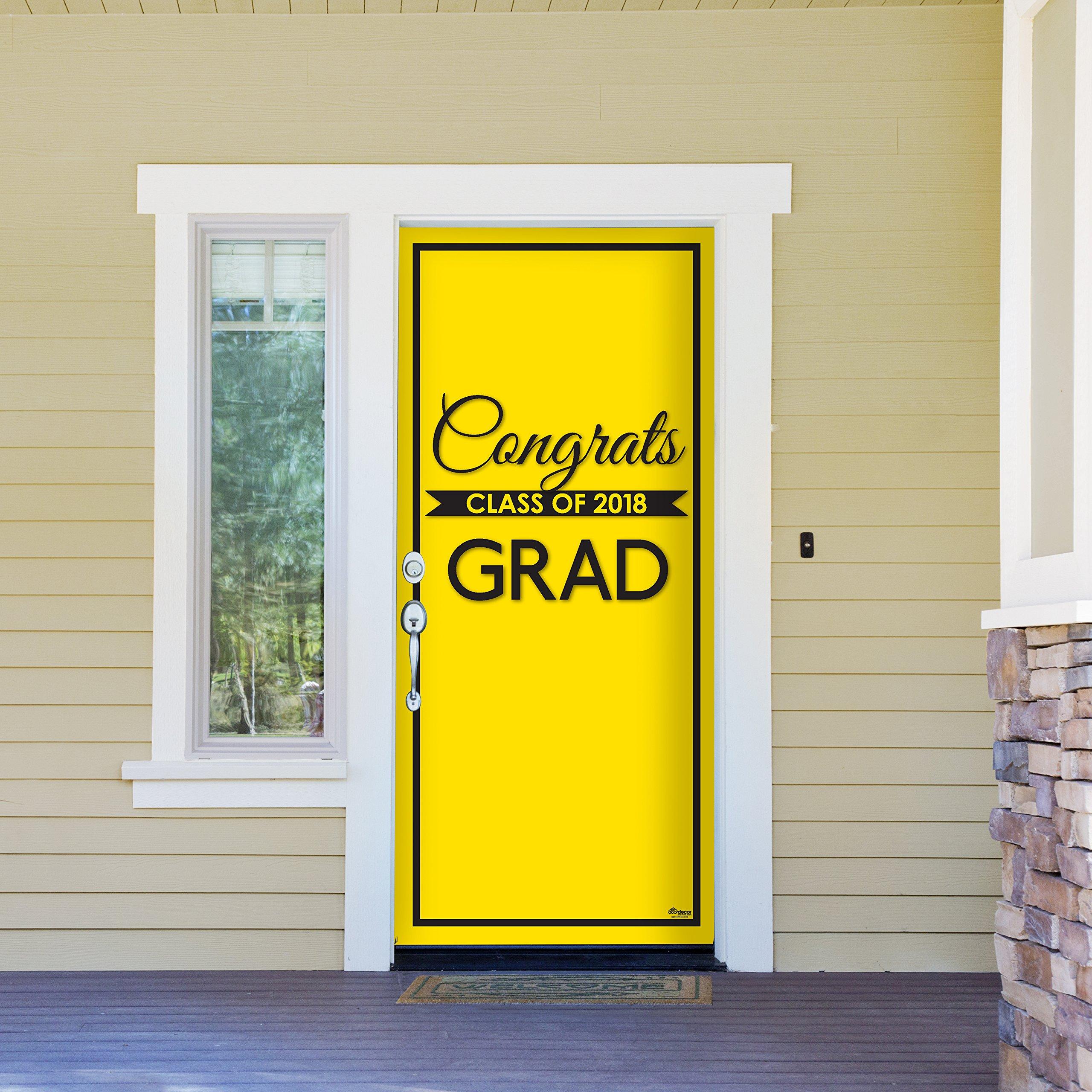 Victory Corps Class Banner Yellow - Outdoor GRADUATION Garage Door Banner Mural Sign Décor 36'' x 80'' One Size Fits All Front Door Car Garage -The Original Holiday Front Door Banner Decor