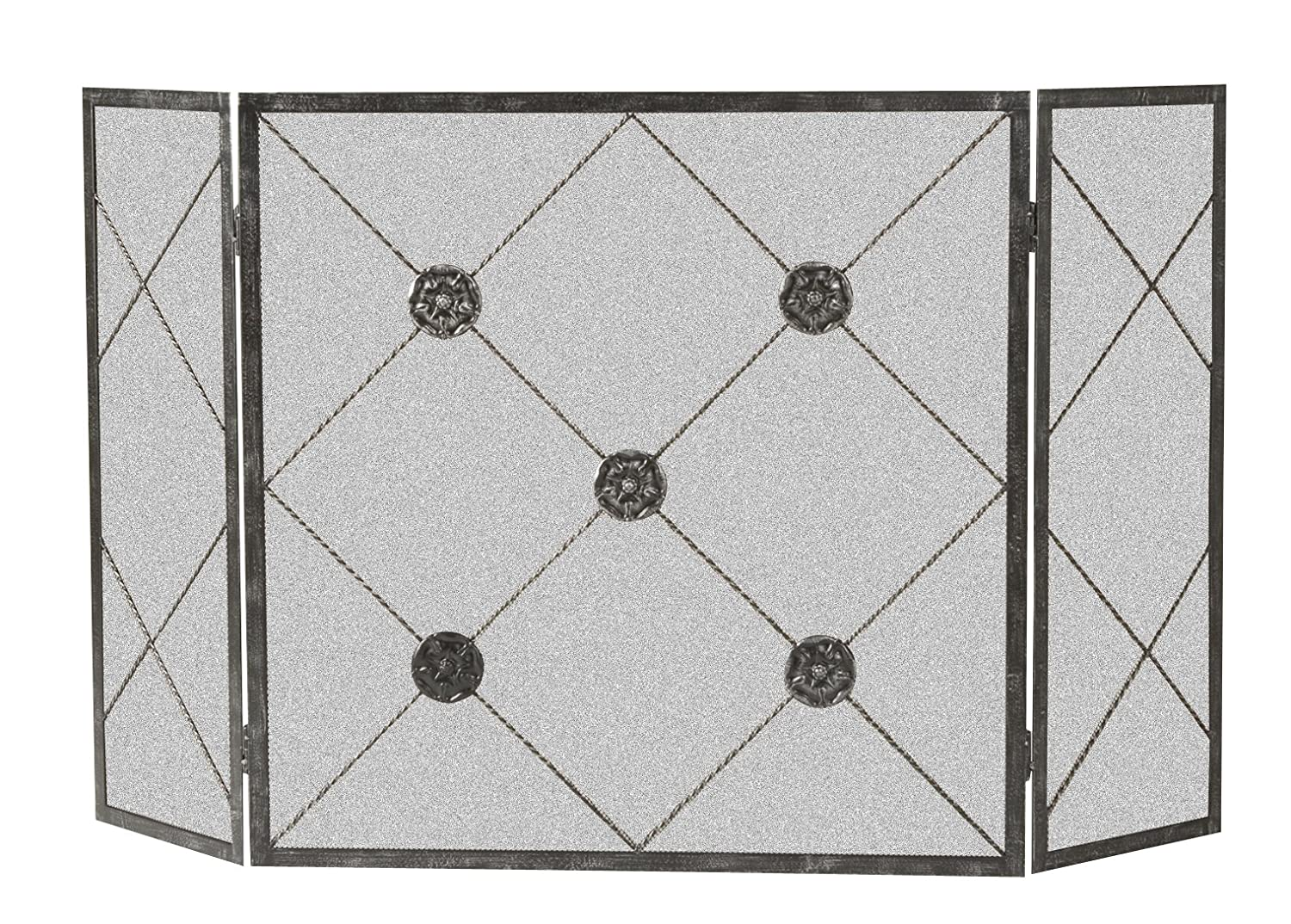 Panacea Products 15931 3-Panel Medallion Fireplace Screen