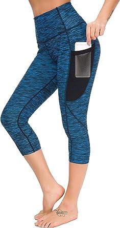 Munvot Legging Sport Femme avec Poche Telephone Femme Pantalon Jogging Fitness Collants Running Taille Haute