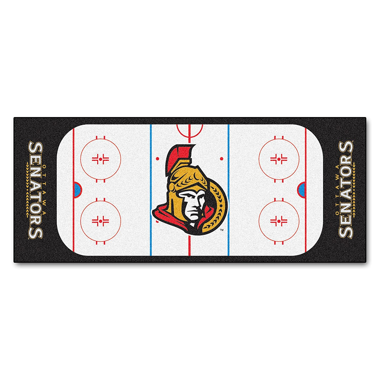 Fanmats 10429 NHL Ottawa Senators Nylon Face Football Field Runner