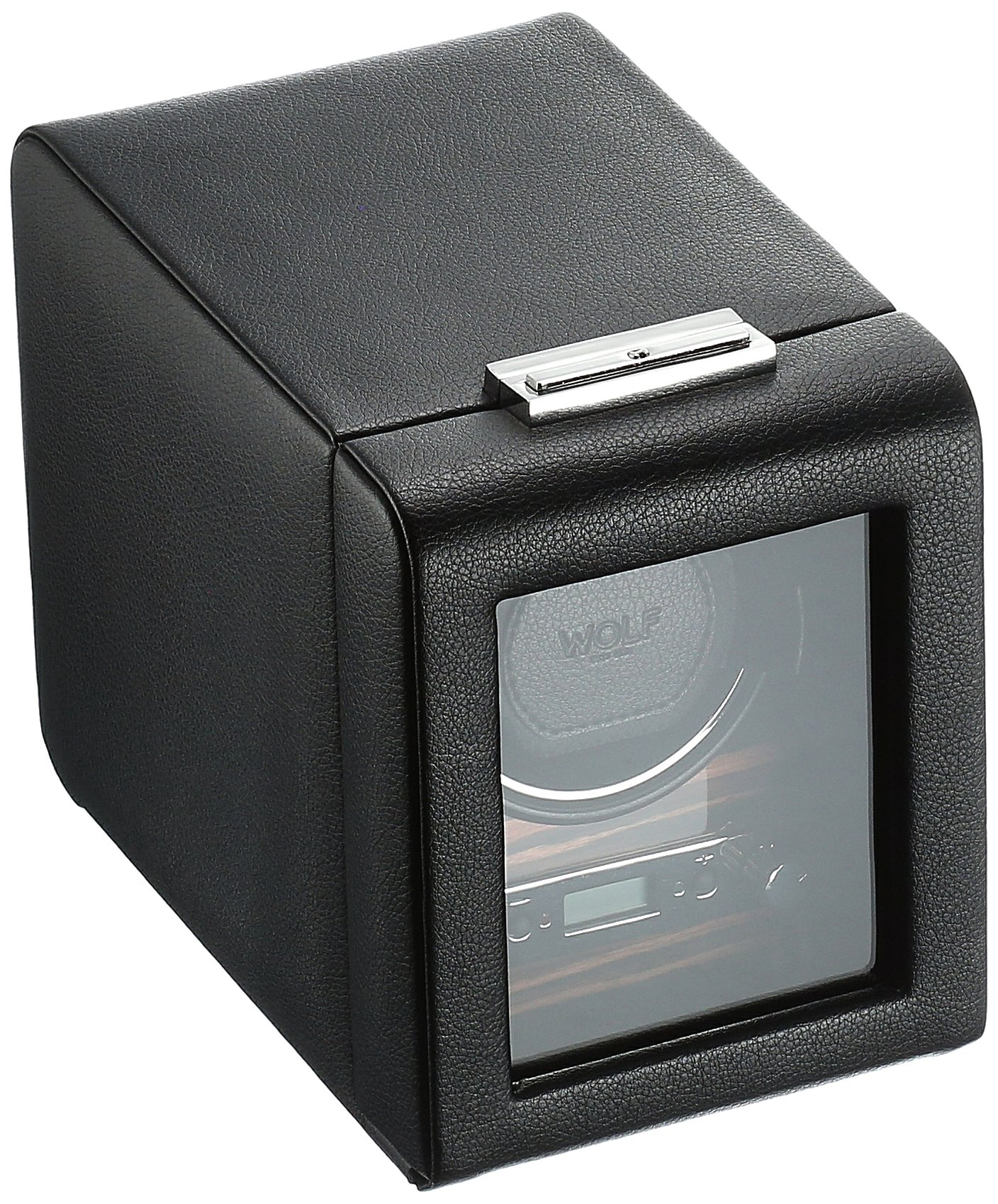 WOLF 457056 Roadster Single Watch Winder with Cover, Black