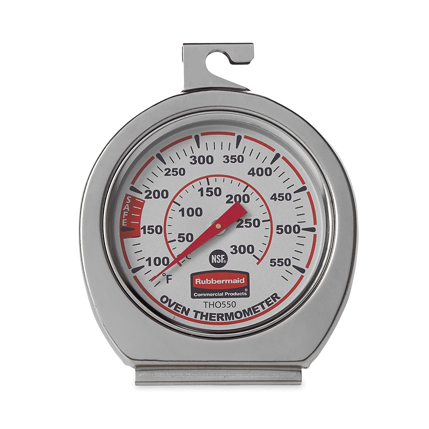 FGTHO550 2 Pack Rubbermaid Commercial Products Rubbermaid Commercial Stainless Steel Oven Monitoring Thermometer