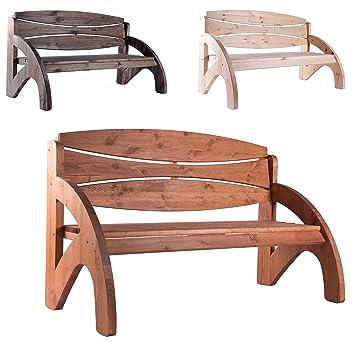 Bomi Gartenbank 3 Sitzer Holzbank Kirschbaum Wetterfest | Parkbank 140cm  Für Garten | Ideale Holz Sitzbank