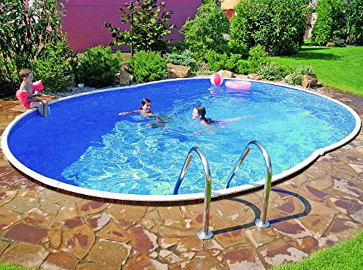 Swimming Pool Kit 18x12ft Oval Amazon Co Uk Garden Outdoors