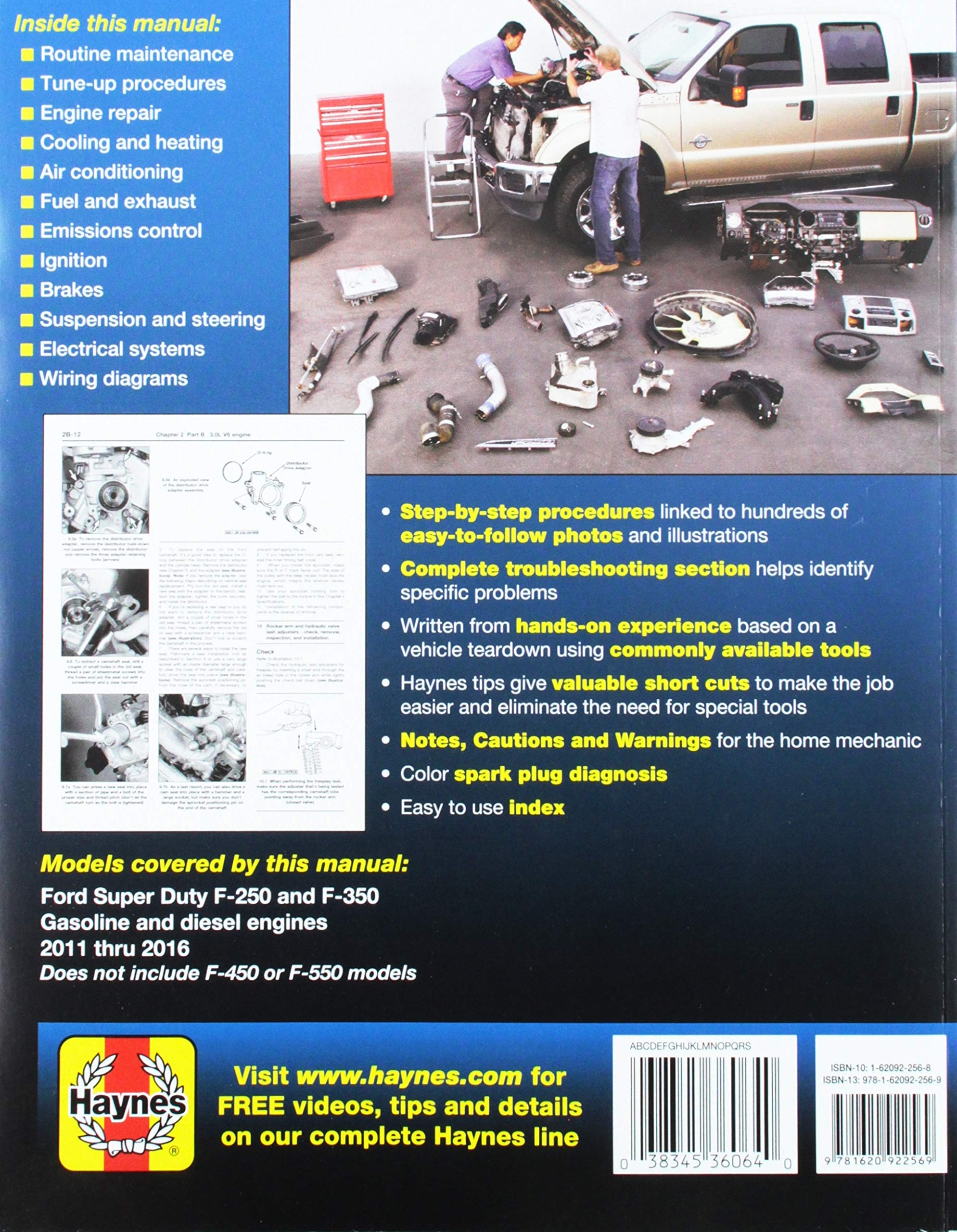 Chilton Workshop Manual Ford Super-Duty Pick-ups 2011-2016 Repair F-250 F-350