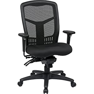 Office Star ProGrid High Back Managers Chair with Adjustable Arms