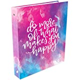 "bloom daily planners Binder (+) 3 Ring Binder (+) 1 Inch Ring (+) 10"" x 11.5"" - Do More of What Makes You Happy"